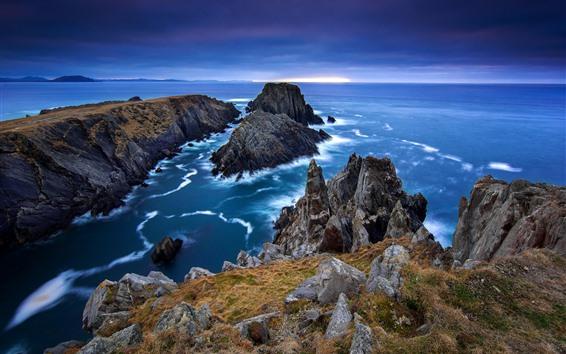 Papéis de Parede Irlanda, mar, pedras
