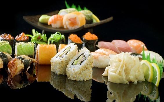 Обои Японская еда, суши, мясо