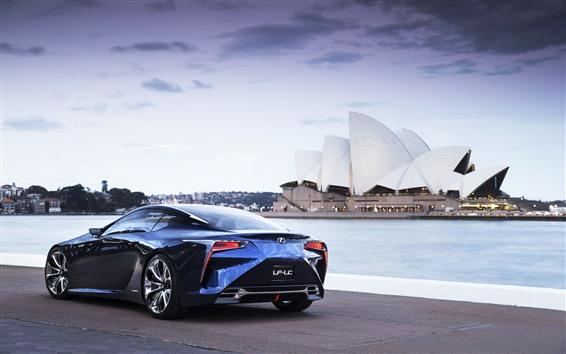 Обои Lexus LF-LC синий автомобиль, Сидней