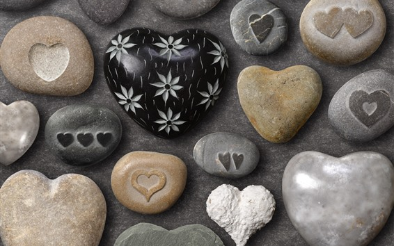 Wallpaper Love heart stones, craft