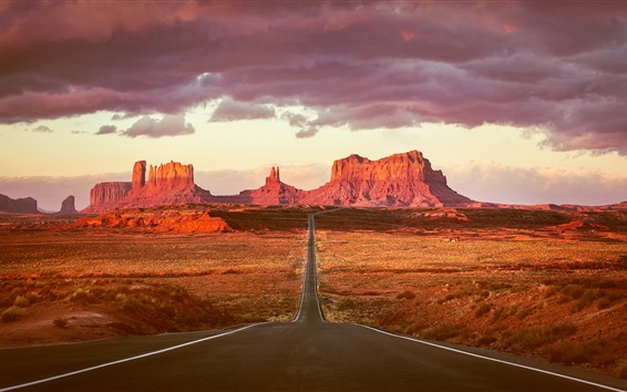 Wallpaper Monument Valley, Route 163, USA