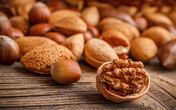 Wallpaper Nuts, walnut