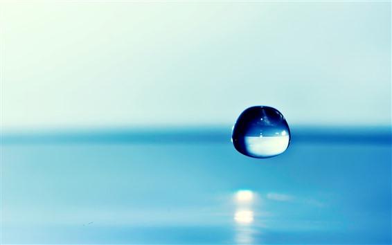 Papéis de Parede Fotografia macro de uma gota de água
