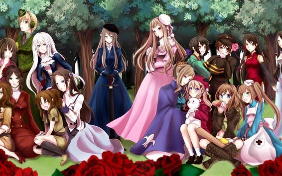 Wallpaper Some anime girls