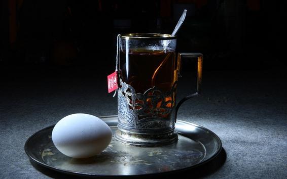 Обои Чай и яйцо