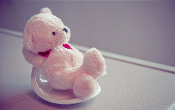 Wallpaper Teddy bear, pose, funny