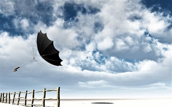Papéis de Parede Guarda-chuva, céu, nuvens