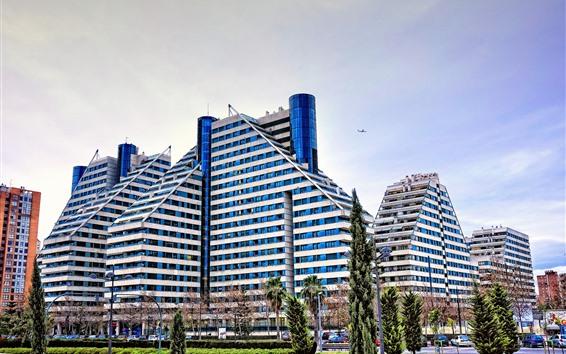 Wallpaper Valencia, Spain, buildings, city
