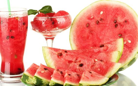 Wallpaper Watermelon, juice, summer fruit
