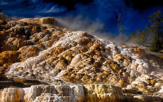 Обои Йеллоустонский национальный парк, камни, пейзажи природы