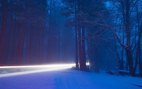 Обои Йосемитский национальный парк, красивая природа пейзаж, снег, деревья, зима