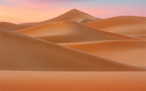 Wallpaper Desert, dunes, nature landscape