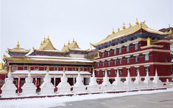 배경 화면 티베트 동가 사원