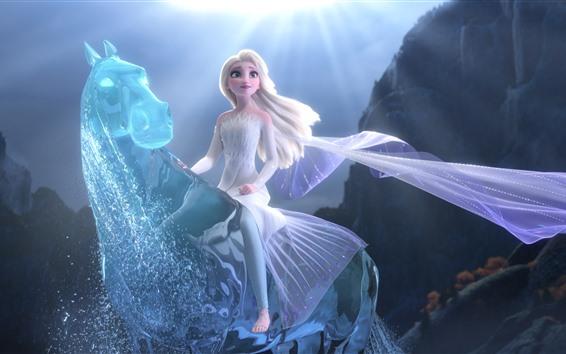 Fondos de pantalla Elsa, Frozen 2, caballo mágico de agua