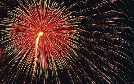 Wallpaper Fireworks, sparks, night, beautiful