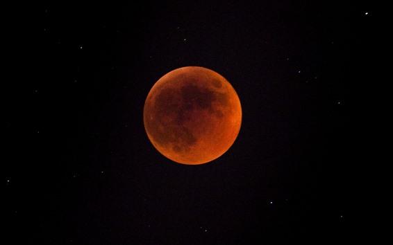 Fond d'écran Lune, espace, nuit, étoiles