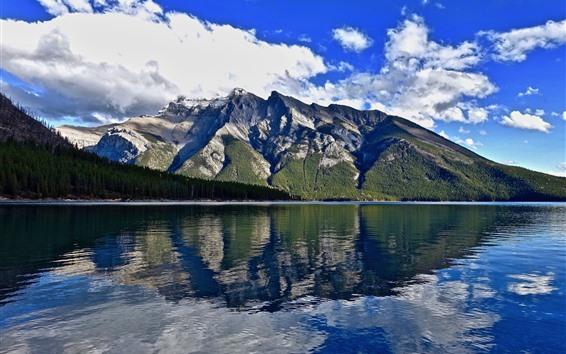 Обои Природа пейзаж, горы, озеро, вода отражение