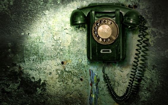 Wallpaper Old telephone, wall
