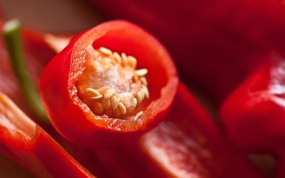 Wallpaper Red pepper close-up, chilli