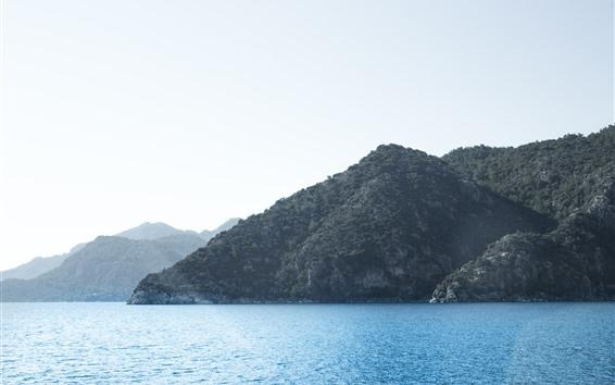Hintergrundbilder Meer, Berge, Inseln