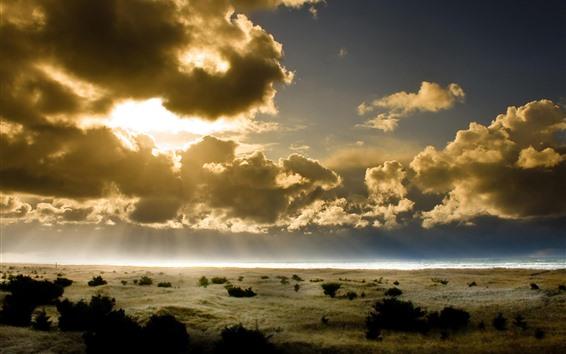 Papéis de Parede Verão, céu, nuvens, raios de sol