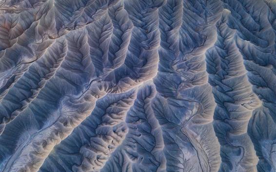 Papéis de Parede Vista superior, montanhas, textura