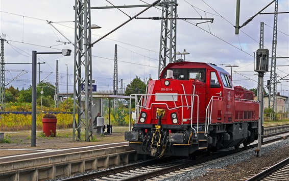 Papéis de Parede Trem, estação ferroviária, Alemanha