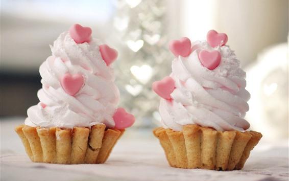Обои Два мороженое, любовь сердца