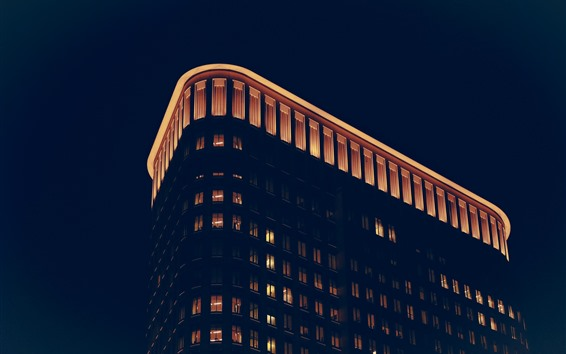 Wallpaper Buildings, lights, night, darkness