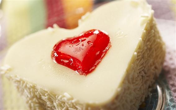 Wallpaper Cake, love heart, cream, dessert