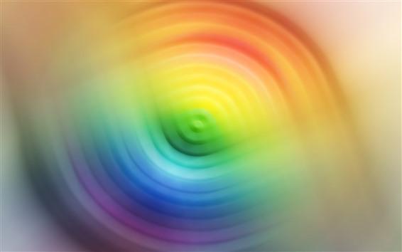 Fondos de pantalla Círculos de colores, colores del arco iris, abstracto, nebuloso