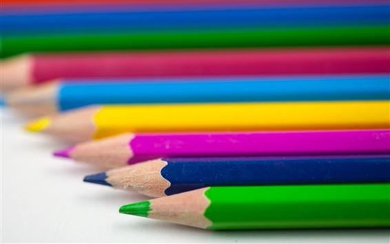 Обои Цветные карандаши, туманные