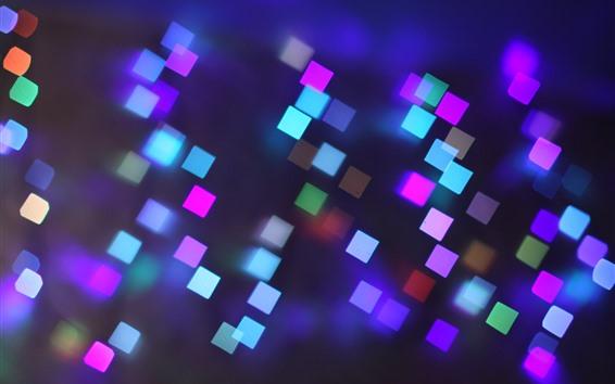 Обои Разноцветные квадраты, яркий свет, абстракция