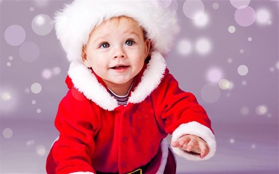 Обои Милый ребенок, новогоднее платье