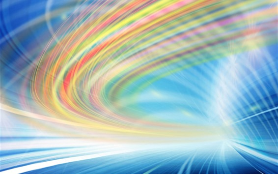 Wallpaper Light lines, rainbow colors, speed, abstract