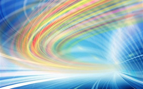 Papéis de Parede Linhas de luz, cores do arco-íris, velocidade, abstrato