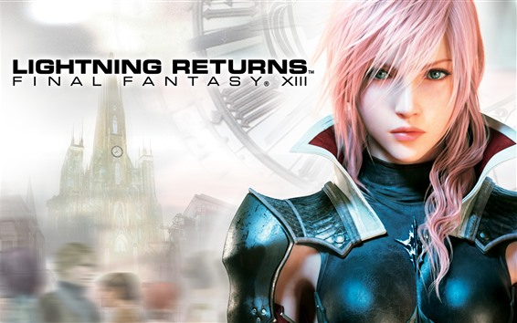Fondos de pantalla Lightning Returns: Final Fantasy XIII, hermosa niña de cabello rosado
