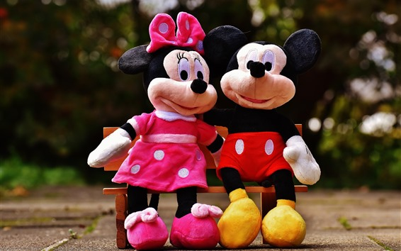 Wallpaper Mickey and Minnie, mouse