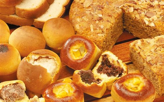Papéis de Parede Pão, café da manhã, comida