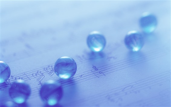Wallpaper Some glass balls, light blue, hazy