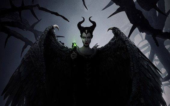 Wallpaper Angelina Jolie, Maleficent: Mistress of Evil