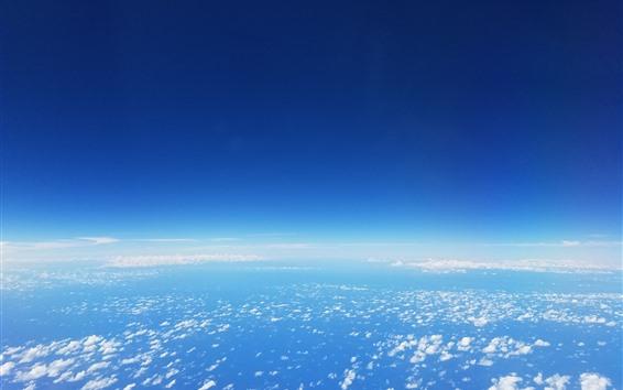 Обои Голубое небо, белые облака, высота