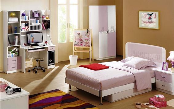 Обои Детская комната, дизайн интерьера