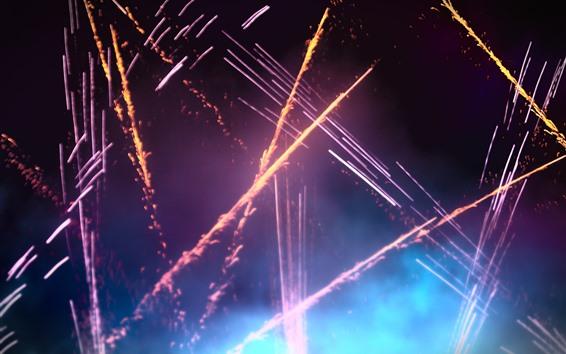 Wallpaper Fireworks, sparks, colors