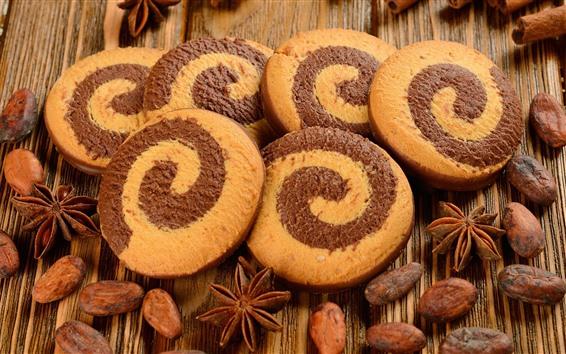 Papéis de Parede Comida, biscoitos, nozes