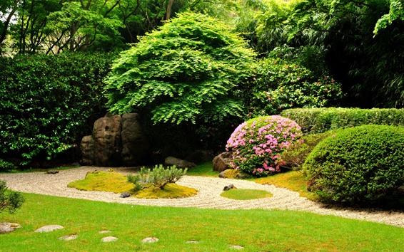 Wallpaper Garden, flowers, bushes