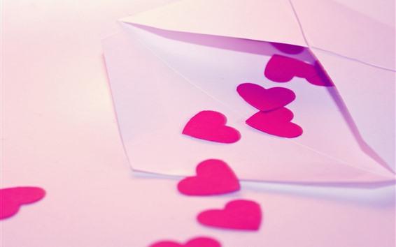 Wallpaper Letter, love hearts