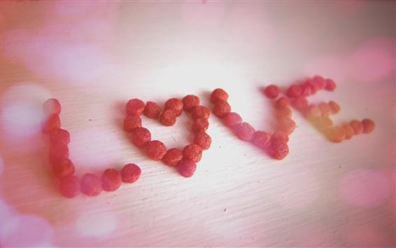 Papéis de Parede Amor, frutas secas