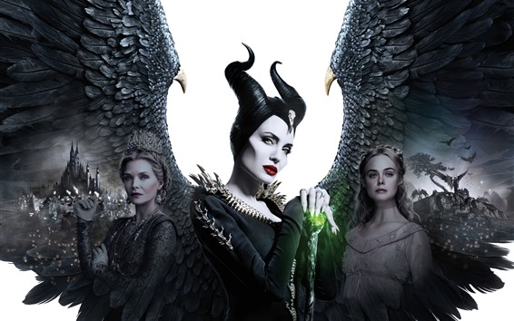 Wallpaper Maleficent: Mistress of Evil, Angelina Jolie