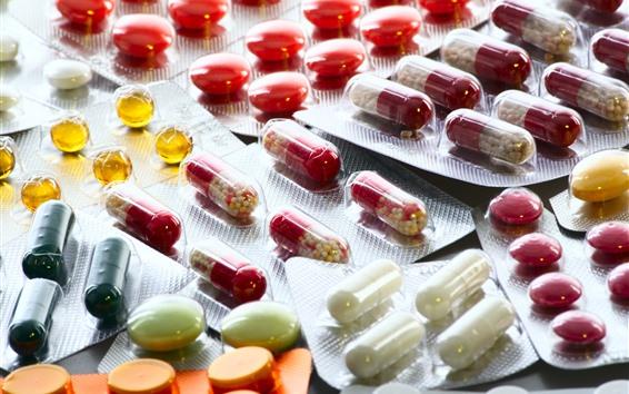 Wallpaper Medicines, pills, capsule